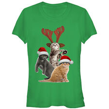 Lost Gods Christmas Cats Juniors Graphic T Shirt - Fifth Sun