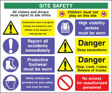 Cons0012 Site Saftey Sign Sticker Health Safety Warning