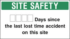 Cons0010 Site Saftey Sign Sticker Health Safety Warning