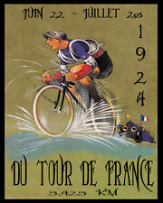 1924 Bicycle Race Tour de France Cycle Sport French 16X20 Vintage Poster FREE SH