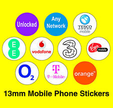 Mobile Phone Network Stickers - Vodafone / Unlocked / Any network / EE / O2 / 3