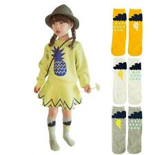 1 Pair Baby Girls Boys vintage Knee High Cotton Socks Kids Cute Cartoon Socks