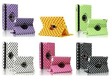 NEW POLKA DOT 360° ROTATING PU LEATHER CASE COVER FOR APPLE IPAD 2 IPAD 3 IPAD 4