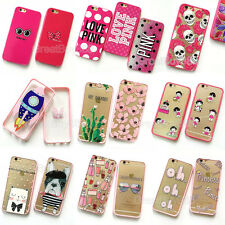 Cute Lovely PINK Cartoon Fruit Floral Hard Case Cover for iPhone 6 6S Plus