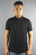 Gabicci Vintage V35GX16 Mens Short Sleeve Jersey Polo Shirt Black