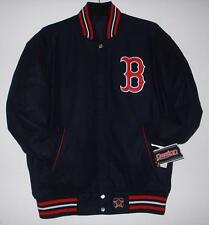 MLB Boston Red Sox Wool Reversible Jacket JH Design  Navy With Tag