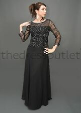 TheDressOutlet Plus Size Formal Sequins Chiffon Dress Mother of the Bride Groom