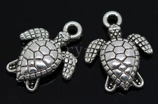 New 15/60/300pcs Antique Silver Lovely tortoise Jewelry Charms Pendant 16x12mm