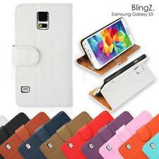 Samsung Galaxy S5 PU Leather Case Wallet Magnetic Flip Cover