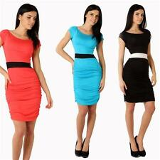 Tunic Mini Dress with Gathered 6 Colours Size 36 38 S M, 8948