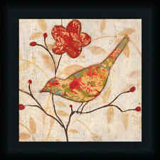 Song Bird Revisited II Tava Studios 12x12 Vintage Style Collage Art Print Framed