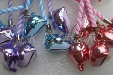 Lot Dolphinl Brass Jingle Metal Bell Pendant Charms Chain straps