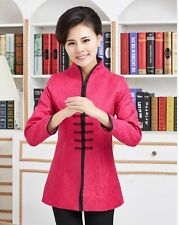 Charming Chinese Women's silk jacket /coat Cheongsam red Sz: 8 10 12 14 16