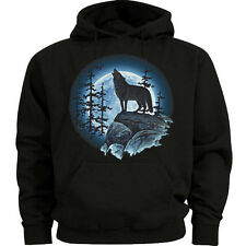 Big and tall sweatshirt hoodie lone wolf howling moon shirt big and tall for men