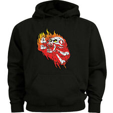 Big and tall sweatshirt hoodie skull flames shirt big and tall for men