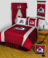 COLORADO AVALANCHE SIDELINES COMFORTER, SHEET SET, PILLOW SHAM