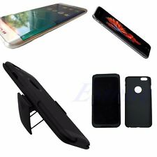 Hybrid Rugged Hard Case Cover w/ Belt Clip Holster Stand For iPhone 6 6S 6G Plus
