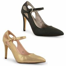 Ladies Womens Dolcis High Heel Mary Jane Ankle Strap Court Shoes Party Sandals