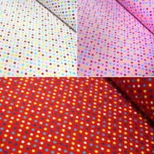 Multi Coloured Sweetie Spots Polka Dots 100% Cotton Poplin Fabric Patchwork