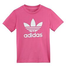 ADIDAS ORIGINALS LK TREFOIL TEE KIDS ACTIVITIES & SPORTS T-SHIRT PINK WHITE