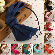 LT Girl Big Bowknot Ribbon Hair Accessory Headband Hairband Bow Head Band Clip