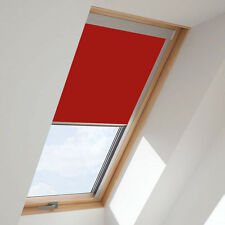 ROLLER BLINDS BLACKOUT FOR ALL VELUX ROOF WINDOWS EASY FIT -RED- 8 COLOURS