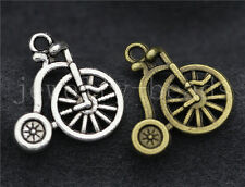 New 10/40/200pcs Antique Silver unicycle Jewelry Finding Charms Pendant 18x17mm