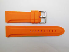 Replacement Orange Silicon Watch Band 28mm, 26mm, 24mm, or 22mm | Fits Invicta