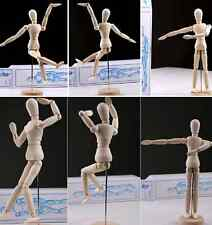 Movable Limbs Wooden Figure Model Mannequin Art Class Drawing Sketching Painting