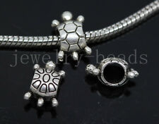 New 10/40/200pcs Antique Silver Bulk big tortoise Beads European Charms Beads