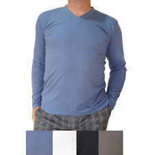 Men's Bamboo long-sleeve T-shirt available in 4 colours + Fast & Free Postage!