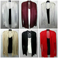 Plus Size Long Sleeve Open Cardigan Drape Cover Up Sweater 1X, 2X, 3X