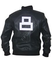 New Men's 8 Ball Bomber Real Motorcycle Style Jacket