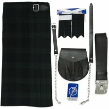 Tartanista Black Watch Tartan 5 pc Kilt Outfit - Kilt Sporran Pin Belt Flash