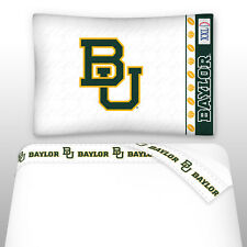 BAYLOR BEARS SIDELINES TOSS PILLOW & SHEET SET