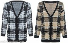NEW WOMENS LADIES V NECK BUTTONS KNITTED BRAVE SOUL CARDIGAN TOP JUMPER V-NECK