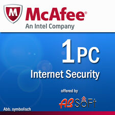 McAfee Internet Security 2016 1 PC 12 Months License Antivirus 2015
