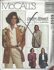 McCalls Sewing Pattern # 6959 Misses Jackets w/ Decorative Variation Choose Size