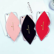 Cute Lovely Hot Lips Leather Clear Hard Case Cover For iPhone 6 6Plus 6S Plus