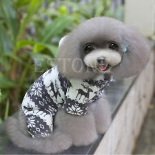 New Cute Pet Dog Snowflake Coat Puppy Jumpsuit Warm Hoodies Pajamas T-shirt