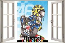 "Huge 3D Koolart Window view Yamaha V.Rossi ""The Doctor"" Wall Sticker Poster 3033"