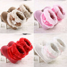 Cute Toddler Shoes Baby Boy Girl Bow-knot Shoes Winter Snow Warm Boots Xmas Gift
