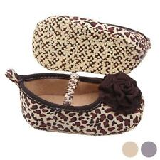 Baby Girls Shoes Leopard Soft Sole Crib Shoes Floral Toddler Prewalker Shoes New