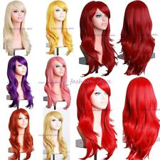 Sexy Ladies Long Layered Full Wigs Cosplay Party Fancy Dress Real Thick Silky G4