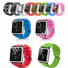 Silicone Aluminum LunaTik Multi-Touch Watch Band Wrist Strap For iPod Nano 6 6th