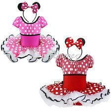 Minnie Mouse Girls Kid Tutu Party Ballet Dance Dress Up Outfit Christmas Costume