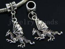 6/30/100pcs Tibetan Silver Wing dragon Bulk Lots Dangle Charms Bracelet Craft