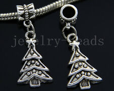 6/30/100pcs Tibetan Silver Christmas tree Bulk Lots Dangle Charms Bracelet Craft