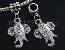 6/30/100pcs Tibetan Silver elephant head Bulk Lots Dangle Charms Bracelet Craft