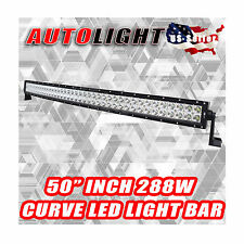 **USA** 54'' INCH 312W CURVED LED LIGHT BAR WORK DRIVING LAMP SPOT JEEP SUV 4WD